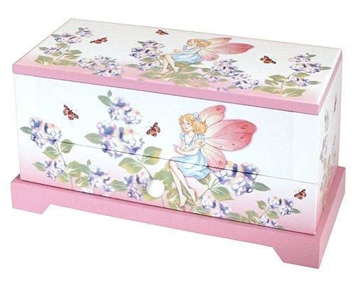 Girls Pink Fairy Musical Jewellery Trinket Box With Rotating Ballerina