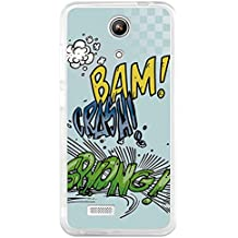 BeCool - Funda Gel Flexible Zopo Speed 7 ZP951 Comic Style Crash Carcasa Case Silicona TPU Suave