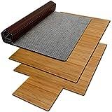 Bodenschutzmatte Floordirekt ECO | aus natürlichem Bambus | Schutz für Teppich und Hartböden | verschiedene Größen | 90x120 cm Braun