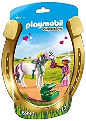 Playmobil - Granja jinete con poni corazón (6969)