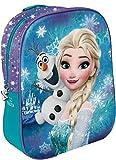 Star Licensing Disney Frozen Zaino 3D per Bambini, 31 cm, Multicolore