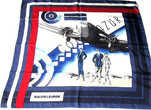 ralph-lauren-blaues-seidentuch-88-x-88cm-airport-flughafen-schal-foulard-seide-carre-scarve