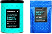 Urban Platter Aluminum Free Baking Powder, 250g & Baking Soda, 250g C
