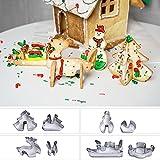 CFPACR 8Pcs/Set Edelstahl Weihnachts-Design Cookie Cutter DIY Fondant Cake Schimmel