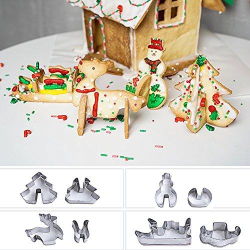 stahl Weihnachts-Design Cookie Cutter DIY Fondant Cake Schimmel ()