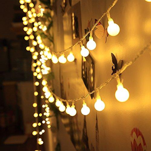 Tech LED Globe Lichterkette Innen Deko Glühbirne 10 Meter 100er Warmweiß DC 31V … (Halloween Papier Waren)