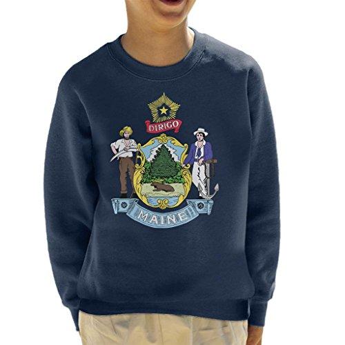 Coto7 Maine State Flag Kid's Sweatshirt
