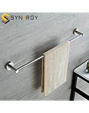 SYNERGY - Stainless Steel 24 Inch Straight Towel Holder/Towel Hanger/Towel Rod/Towel Bar for Bathroom and Kitchen (Chrome Finish) - SY-TH6