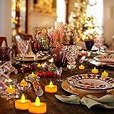 24 LED Kerzen, Diyife® LED Flammenlose Tealights, Flackern Teelichter, elektrische Kerze Lichter Batterie Dekoration für Weihnachten, Weihnachtsbaum, Ostern, Hochzeit, Party [Batterien enthalten] - 2