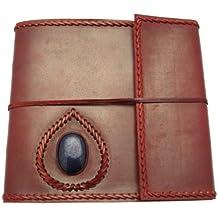 Fair Trade Album grande portafotografie in pelle 260 x 240 mm con pietre semi-preziose