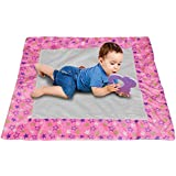Creative Textiles Baby Pink Play Mat Child Activity Soft Cotton Paded Kid Floor Carpet/mat - 90 X 90 Cm (1 Pc)