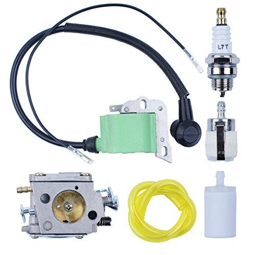 Haishine Kit de línea de Filtro de Combustible de Bobina de Encendido para carburador para Husqvarna 268 272 272XP 61 266 Motosierra # 5032803-16/5039014-01 Bujía de Encendido