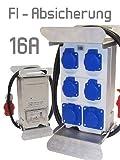 Stromverteiler 16A 400V 230V FIAbgesichert Baustromverteiler Steckdosenverteiler