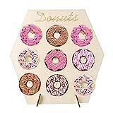 WendyBaby Holz Donut Wandständer für Baby Geburtstag Hochzeitsfeier