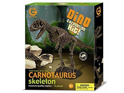 Dinosaur skeleton excavation kit specimen Carnotaurus (japan import) by Geoworld