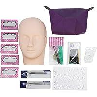 Cabeza de maquillaje, Profesional de un entrenamiento de la cabeza del modelo de pestañas falsas Kit de Práctica de Extensión Herramienta