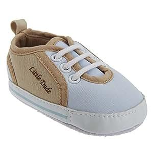 Chaussures style baskets à lacets Little Dude - Bébé garçon (0-6 mois) (Bleu)