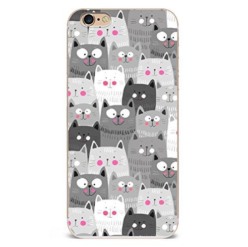 Iphone 7plus Hülle Niedlich Katze Welpe Erdbeere Marmor Silikon TPU Schutzhülle Ultradünnen Case Schutz Hülle für iPhone 7plus YM102