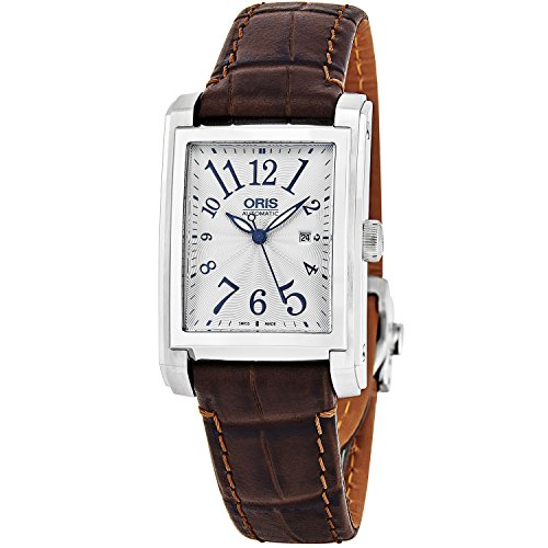 Oris Men's Brown Leather Band Steel Case Automatic Watch 01 561 7657 4061-LS