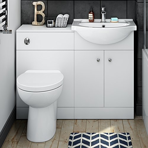 1050 Mm Matte White Vanity Unit Luxury Toilet Bathroom Sink Storage Furniture Search Furniture