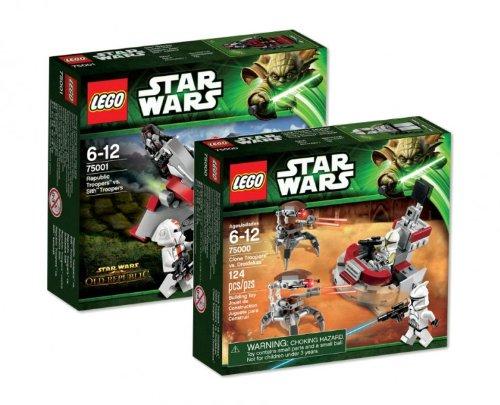LEGO Star Wars 75000 Clone Trooper vs. Droidekas und 75001 Republic Troopers vs. Sith Troopers (Trooper Clone Star Kommandanten Wars)