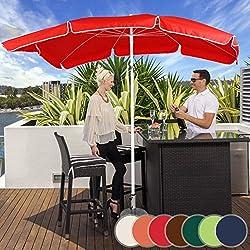 MIADOMODO Parasol Rectangulaire - 200 x 155 cm, Hauteur Réglable, Inclinable, Protection UV 30+, Polyester, Couleurs au Choix - Parasol de Jardin, Terrasse, Balcon