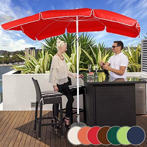 Miadomodo Parasol Rectangulaire | 200 x 155 cm, Hauteur Réglable, Inclinable, Protection UV 30+, Polyester, Couleurs au Choix | Parasol de Jardin, Terrasse, Balcon (Rouge)