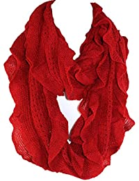 Elegant Soft Woven Infinity Loop Figure Eight Endless Scarf Wrap