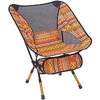 Vimbhzlvigour - Taburete Plegable portátil para Camping, Pesca, Viaje, Picnic y Playa, Naranja