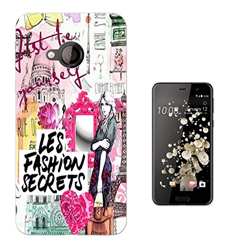 003215 - Fashion Rome Paris girl hearts collage be yourself Design HTC U Play 5.2