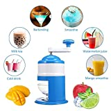 Mini Main levée Glace manuel machine polissage Snow Cone Maker machine Maison Fête DIY Ice Cream Candy drinkstuff