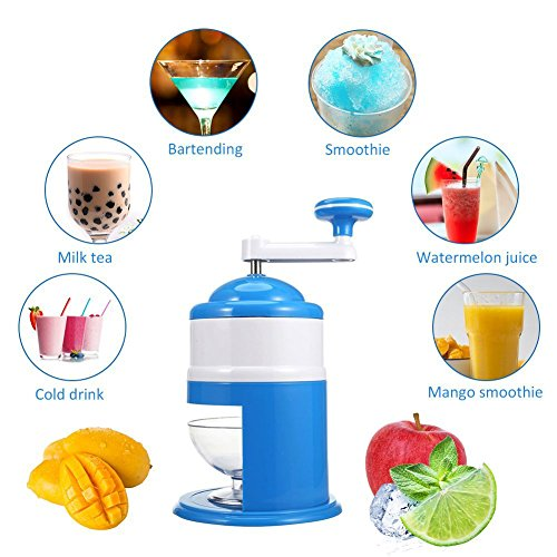 Mini Handhold Manuelle Eis Maschine Schleifstifte Snow Cone Maker Maschine Haushalt Party DIY Eis Candy Frappe