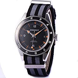 41mm 21 Jewels Automatic Men's Watch Sapphire Crystal Black Sandwich Dial
