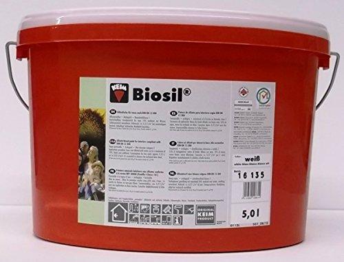 5 Liter KEIM BIOSIL Silikatfarbe Innensilikat Silikat weiß Wandfarbe