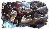 Chicbanners Ant-Man und der Wasp Ant Man 3D V003Selbstklebend Magic Wandtattoo Fenster Poster Wall Art Größe 1000mm Breit x 600mm Tief (groß)