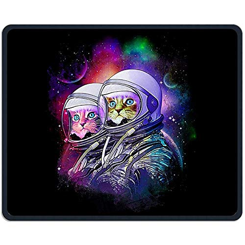 Cat Besten Kostüm - Mauspad Space Cat Kostüm Art Rectangle Rubber Mousepad Länge 18 x 22 cm Gaming-Mauspad für kreatives Geschenk