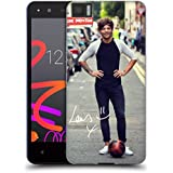 Official One Direction Louis With Ball Solo Photographs Autographed Soft Gel Case for BQ Aquaris M4.5