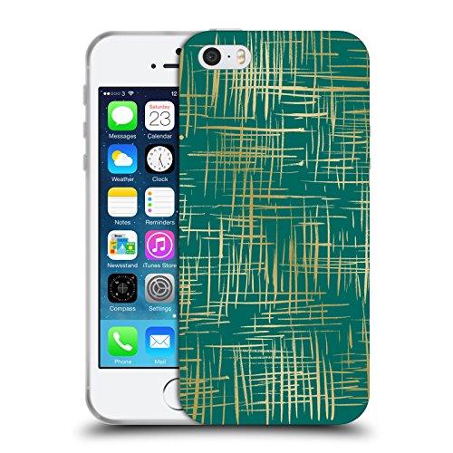 Offizielle Caitlin Workman Punktiert Muster Soft Gel Hülle für Apple iPhone 6 / 6s Kreuz Smaragd
