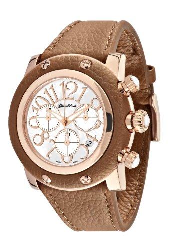 Glam Rock 0.96.2119 - Reloj analógico de cuarzo unisex, correa de cuero color marrón