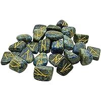 Winmaarc Runen-Set, natürlicher Edelstein, poliert, graviert mit Symbol, Chakra, heilende Wirkung, Amethyst Lapis... preisvergleich bei billige-tabletten.eu