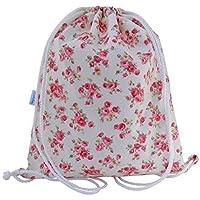 Girls Roses Swim Bag Drawstring PE Bag Backpack