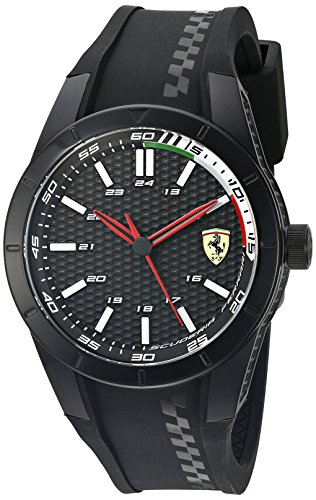 Scuderia Ferrari 0830301 - Reloj de pulsera hombre, Silicona, color Negro