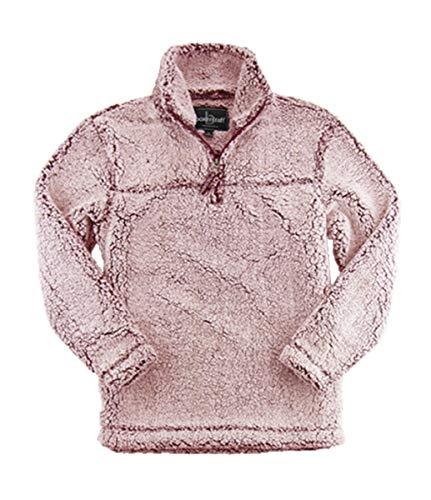 boxercraft Adult Super Soft 1/4 Zip Sherpa Pullover (XX-Large, Snowy Garnet) Super Mom-sweatshirt