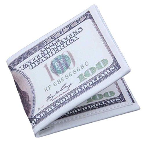 rse Goosun Währung Kreativität Leder Dünn Brieftasche Geldtasche Kartenhalter Multifunktion Portemonnaie Handschlaufe Clutch Handtasche Portmonee Kleinformat Geldbeutel (1 PC, C) ()