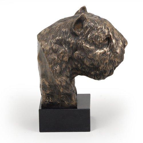 Bouvier des Flandres, Kaltguss Bronze Skulptur Heim und Büro Dekor Art Dog -