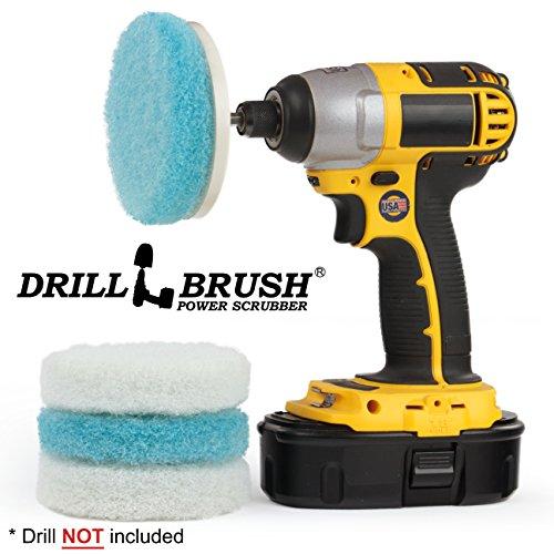 Drillbrush Elektrische Hand Scrubber Anlage Wanne und Fliesen Badezimmer Cleaning Kit weiß blau