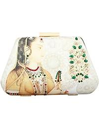Puneet Gupta Women's Clutch (Beige)