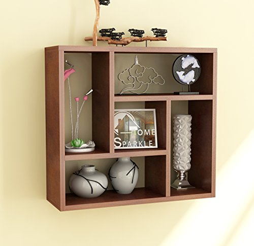 Home Sparkle Sh762 Wall Shelf (Lacquer Finish, Brown)