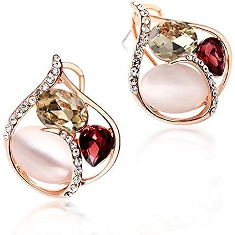 ZWX Semplice moda orecchini argento decorazione/ Orecchini geometrici/ giapponese e coreano gioielli/ clip orecchio (Ciondolano Clip)