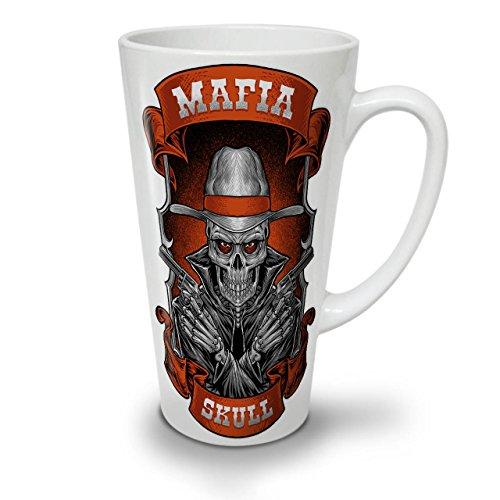 Mafia Schädel Cool Gangster WeißTee KaffeKeramik Kaffeebecher 17 | (Terror Planet Kostüm)